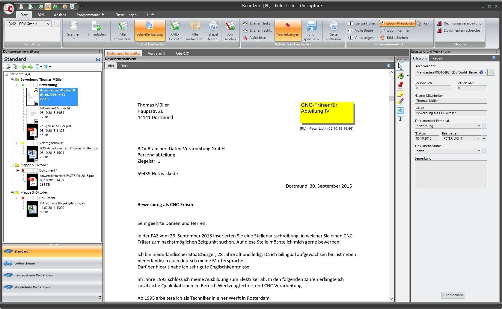 Unicapture - BDV Branchen-Daten-Verarbeitung